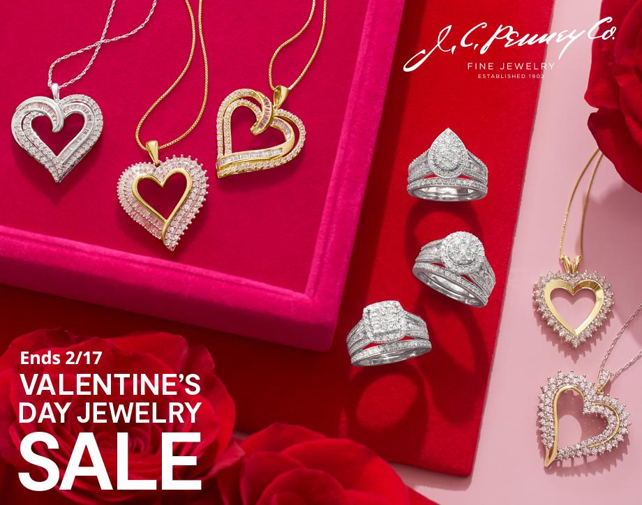 Valentine's Day Sale EXTRA 35% OFF* with your JCPenney Credit Card & coupon or code: CUPIDS Fine jewelry | select styles Already reduced 35-60% | Ends 1/24