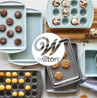 wilton A sprinkle of new Introducing Wilton—durable, nonstick, dishwasher-safe bakeware that's built to last. Now at JCPenney.