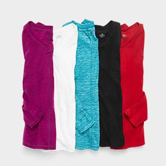 Women's St. John's Bay v-neck polar fleece
